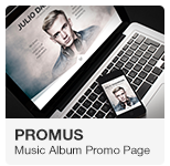 Promus - Album Release One Page Adobe Muse Template