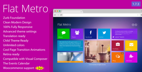 flat metro responsive wordpress theme by mymoun themeforest
