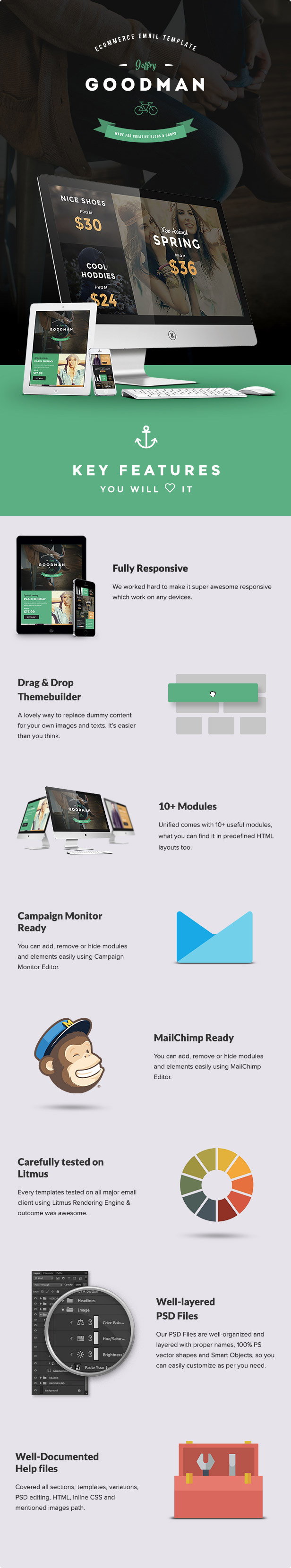JG - E-commerce Email Template + Builder Access - 1