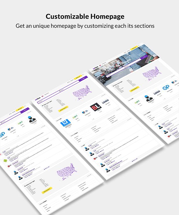 Customizable Job Board Website