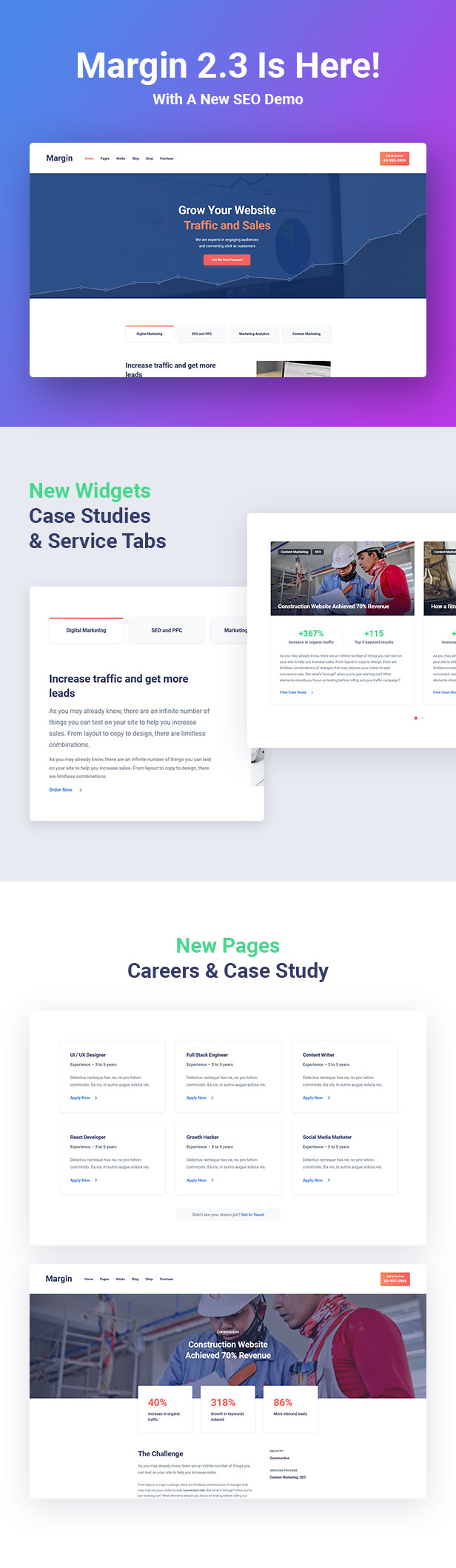 Margin - Elementor Marketing and SEO WordPress Theme