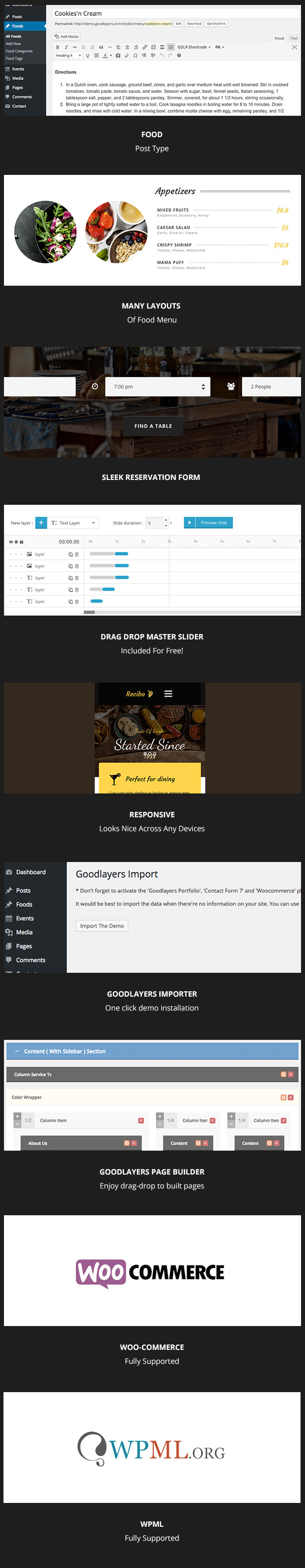 Recibo - Restaurant WordPress - 1