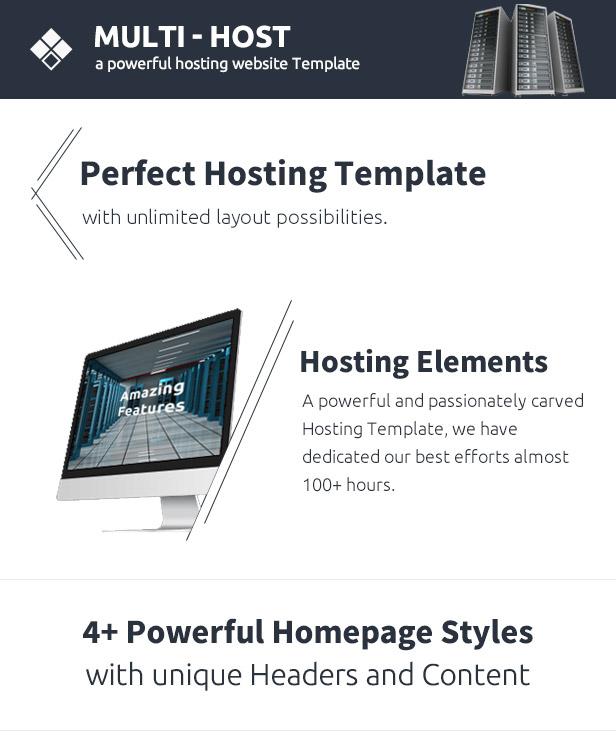 Multi Host - Responsive Hosting Template
