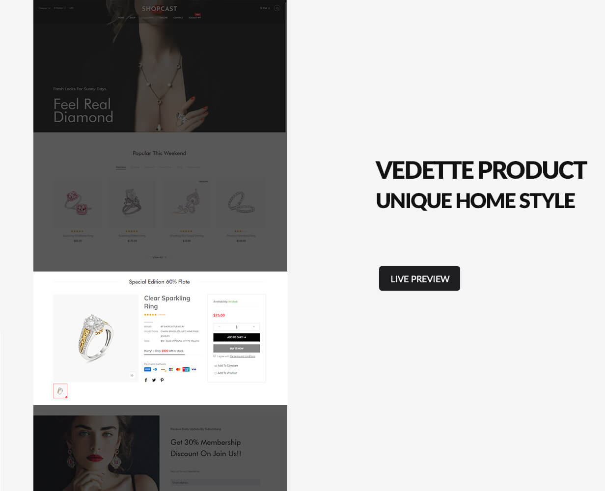 Vedette product section