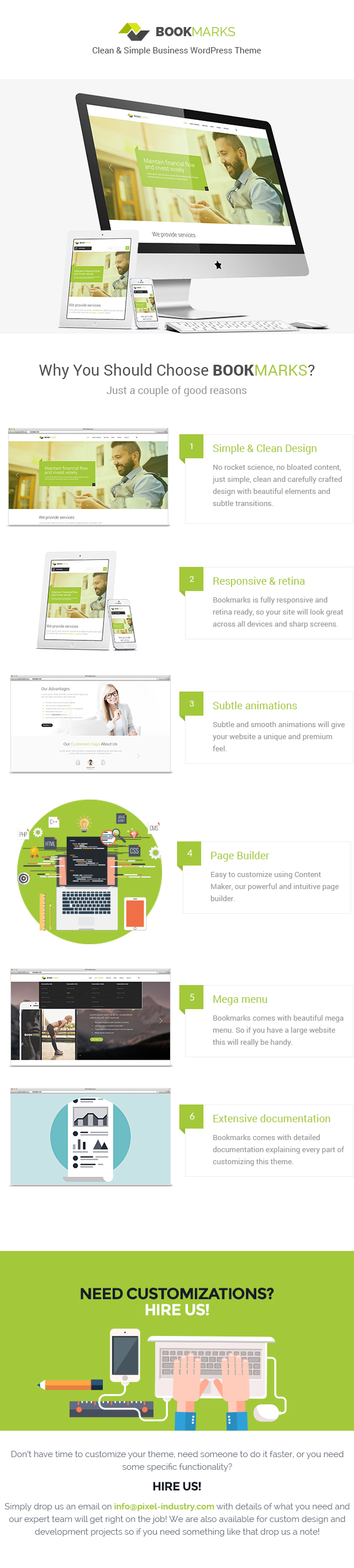 Bookmarks - Simple Business WordPress Theme