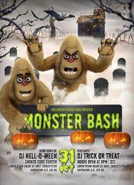 Monster Bash Halloween Flyer Template