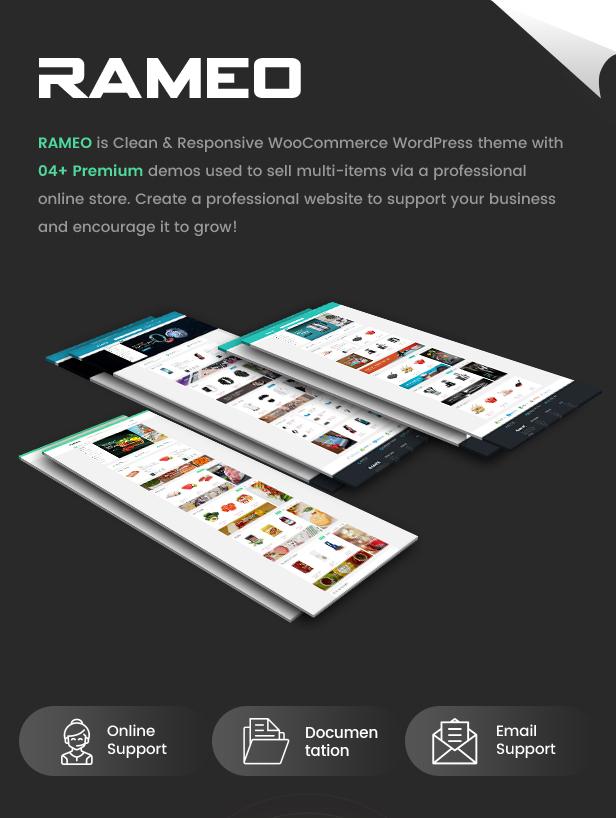 Rameo - Multipurpose Theme for WooCommerce WordPress 9