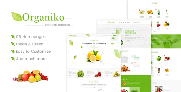 Organiko - Farm & Food Business WordPress Theme