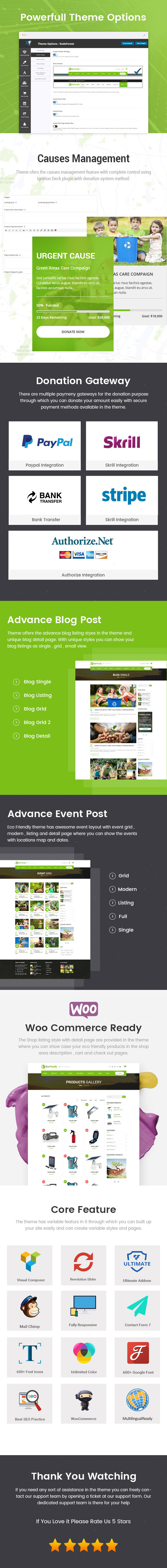 Eco Friendly Theme Features