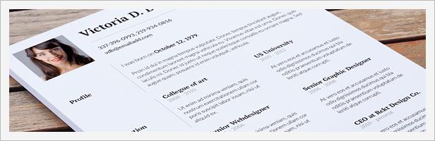 Clean Resume / Minimal CV