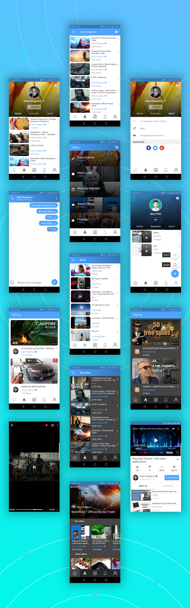 PlayTube - Sharing Video Script Mobile Android Native Application - 4