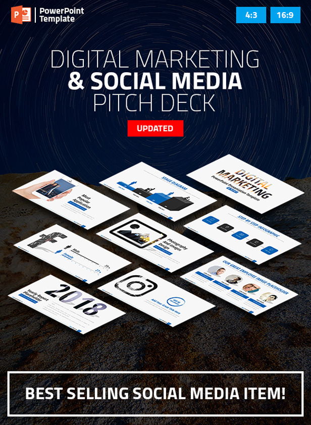 Digital Marketing and Social Media PPT Pitch Deck