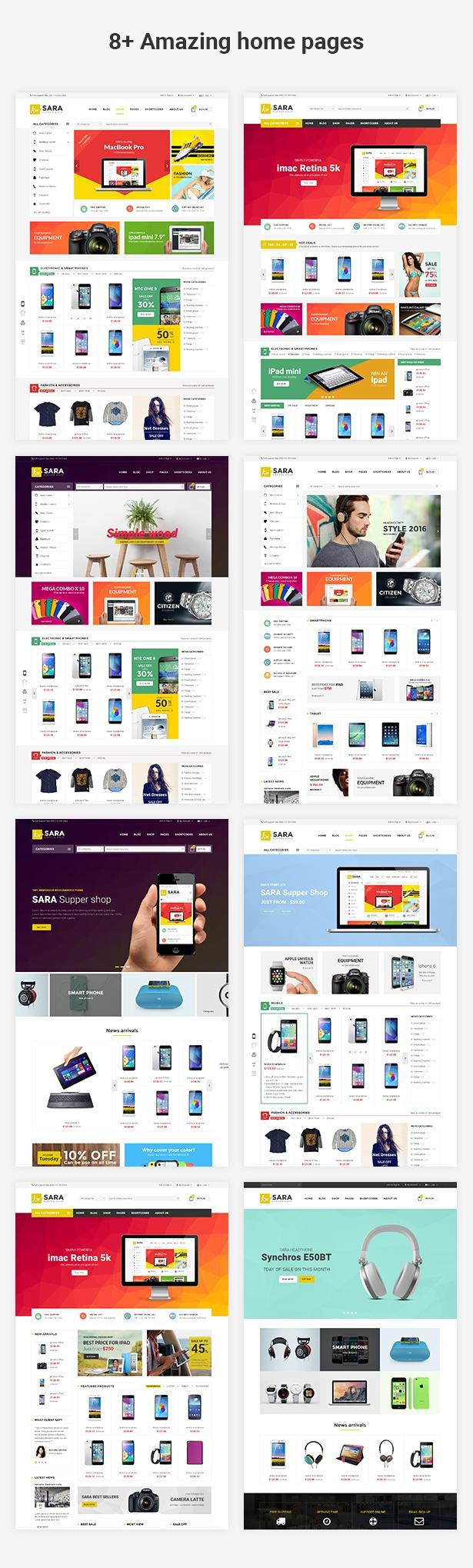 Sara - WooCommerce WordPress Market Theme - 2