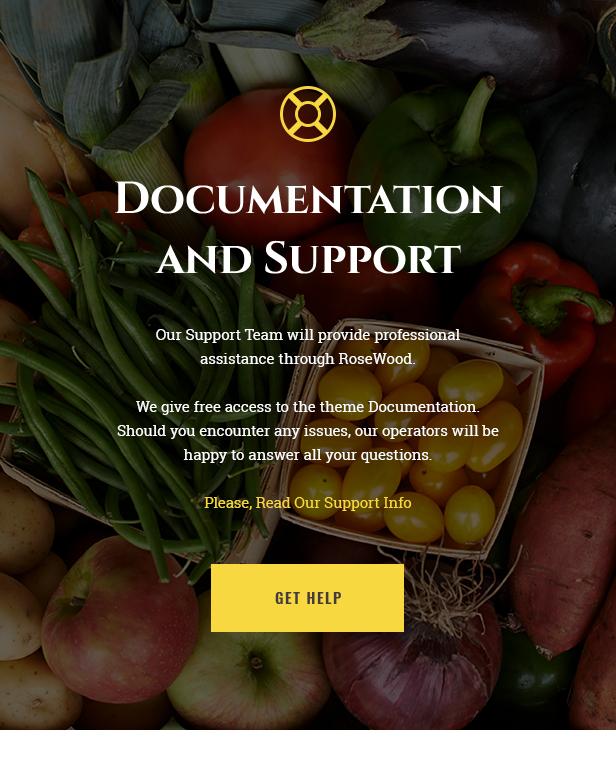 Rosewood - Organic Farming WordPress Theme