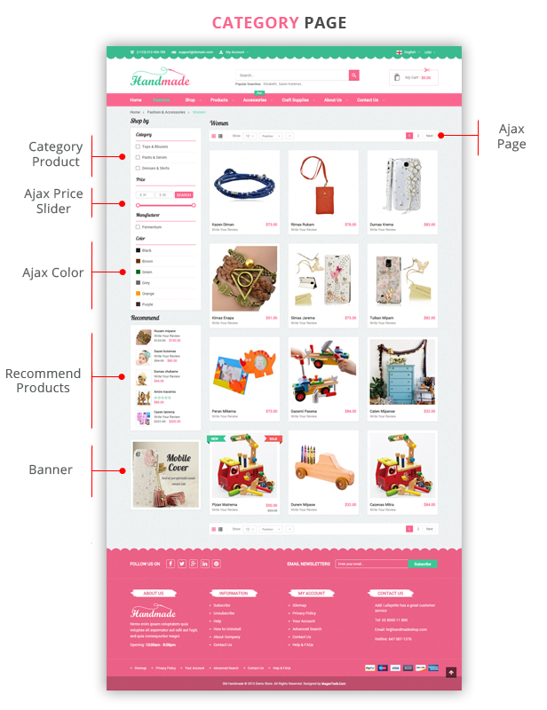 Handmade - Listing Page