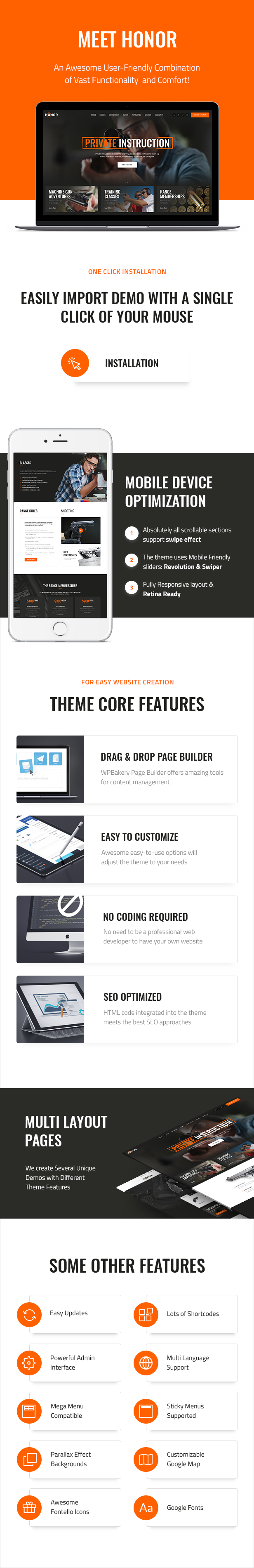 Honor | Shooting Club & Weapon Store WordPress Theme - 1