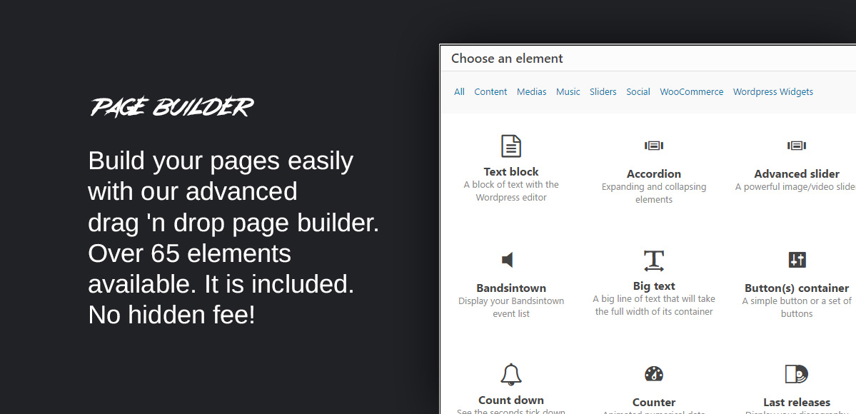page builder visual composer