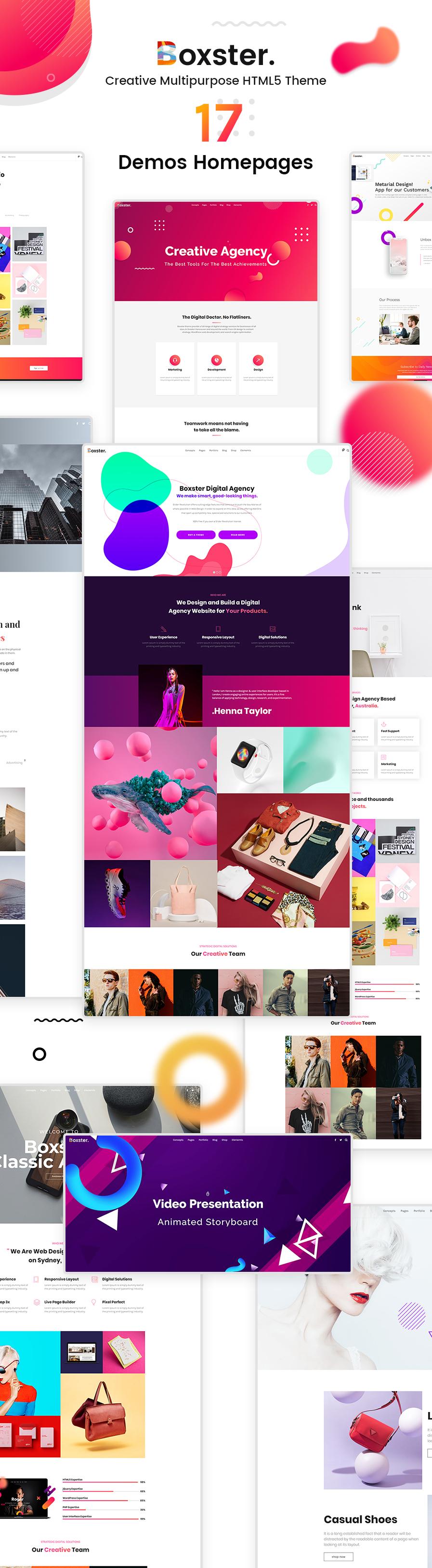 Boxster - Creative Multi-Purpose HTML5 Template - 1