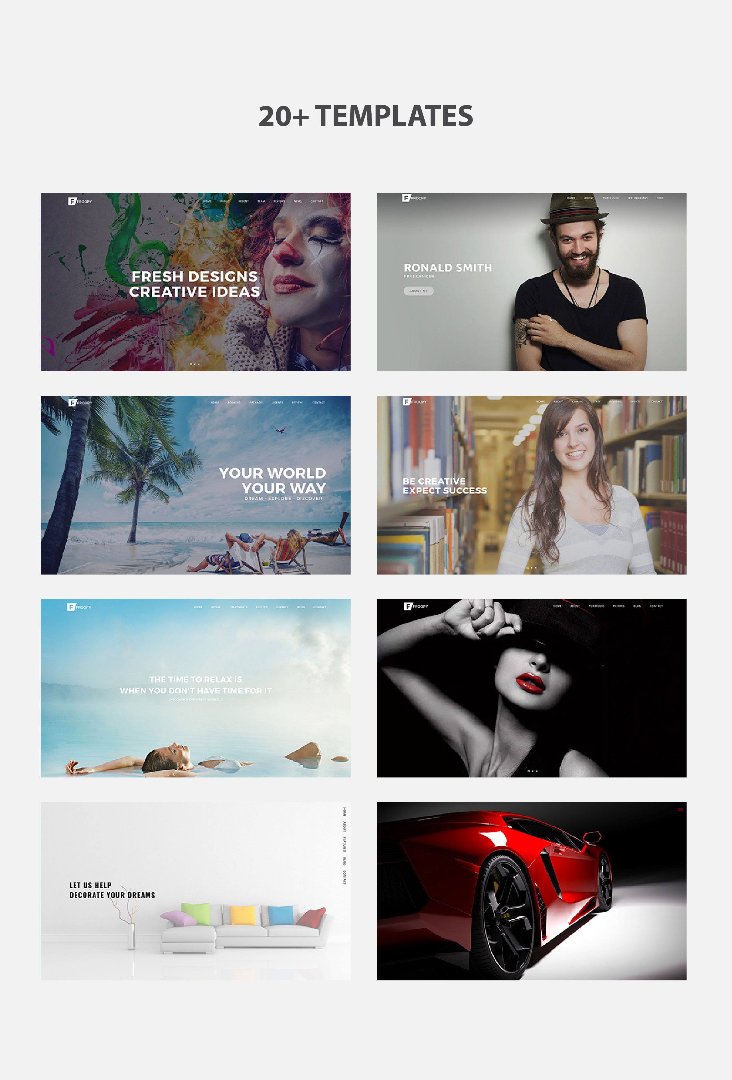 Froopy - One Page Responsive Multipurpose HTML5 - 2