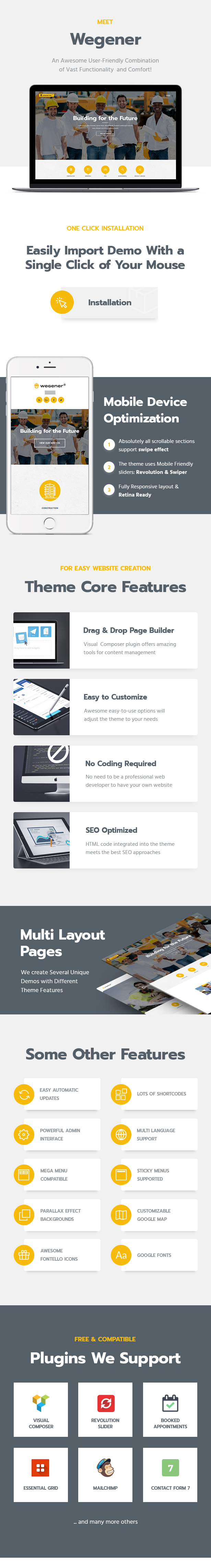 Wegener | Construction & Engineering WordPress Theme - 2