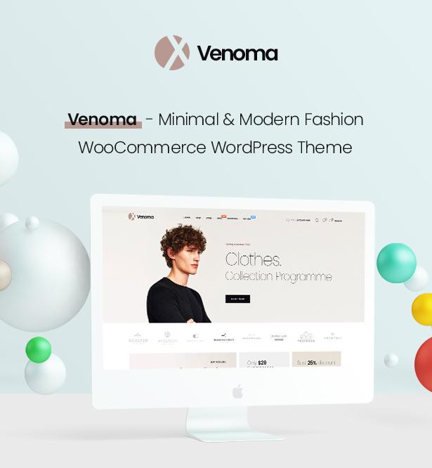 Impressive Venoma Fashion WooCommerce WordPress Theme 2019
