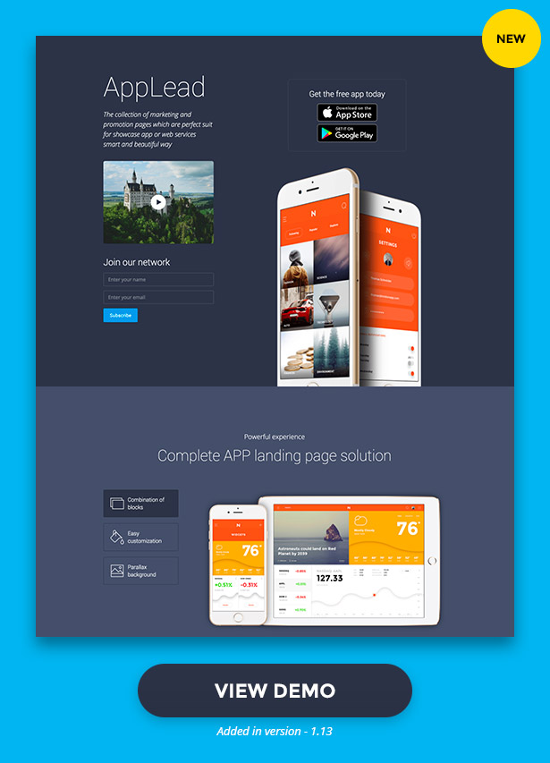 AppLead - App Landing Pages