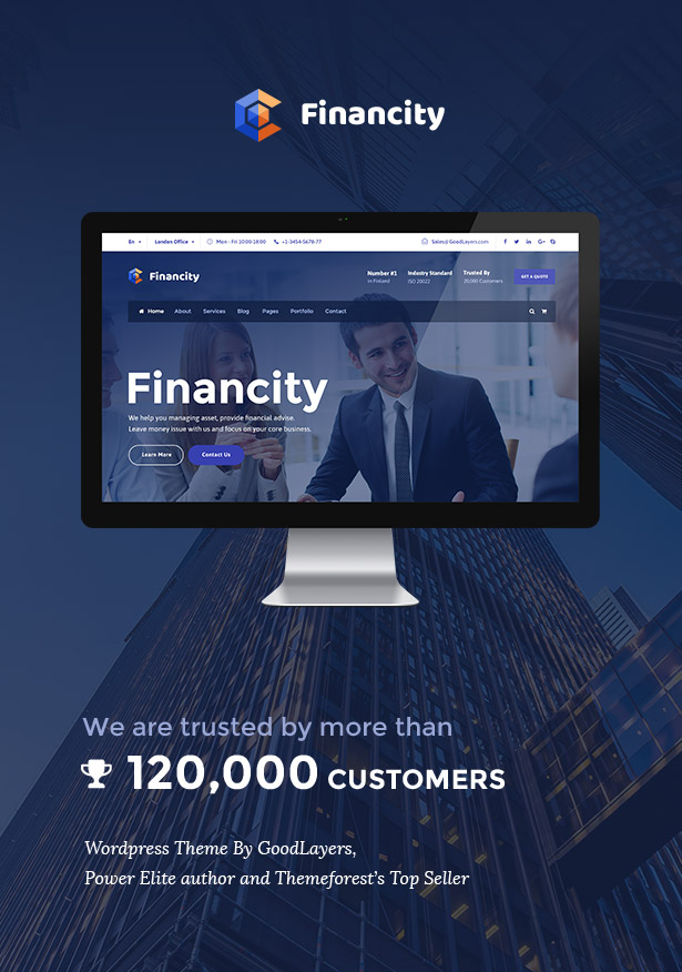 financity business financial finance wordpress theme by goodlayers
