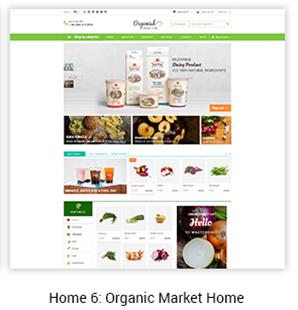 Organic Market Home