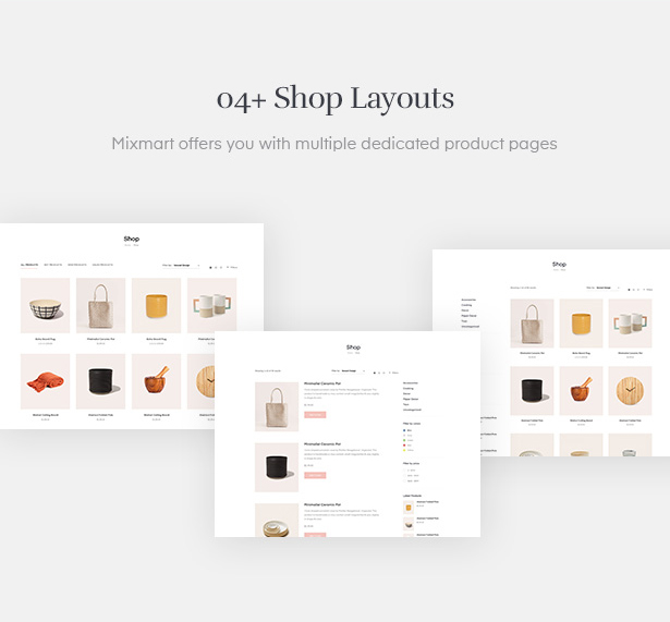 Various Handmade Shop layouts for you to choose