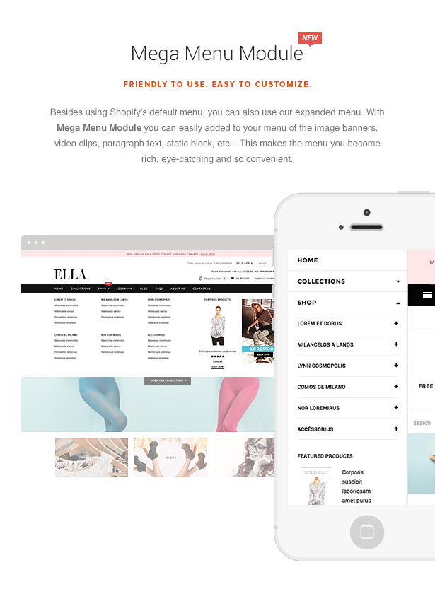 Ella responsive shopify template sections ready by halothemes ella theme features pronofoot35fo Images