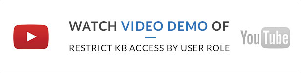 Restrict KB Access by User Role Addon - 1