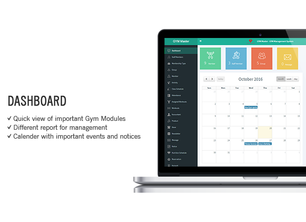 php gym Management System