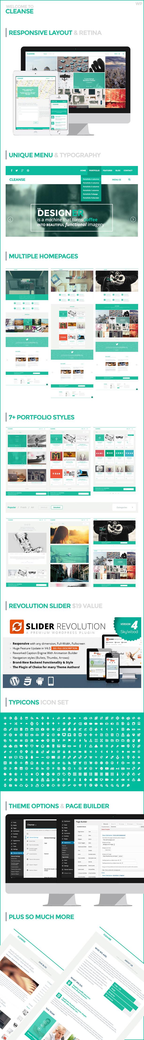 Cleanse - Minimal Style WordPress Portfolio Theme - 7