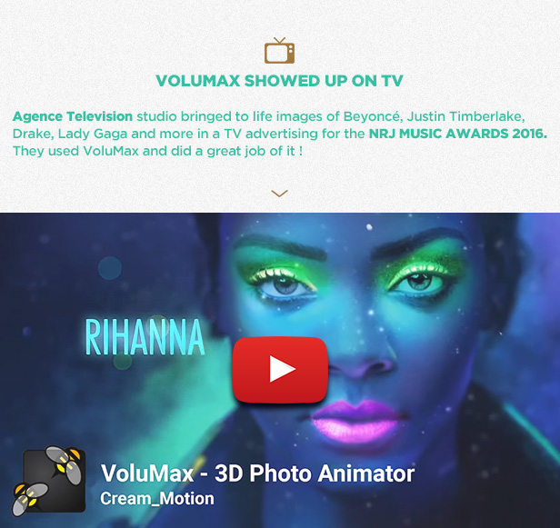 Videohive VoluMax - 3D Photo Animator V5.2 13646883
