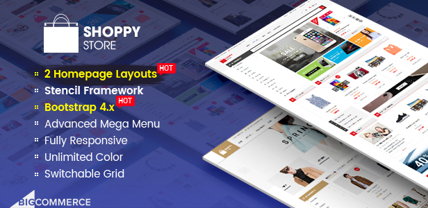 ShoppyStore - Multipurpose Stencil BigCommerce Theme & Google AMP Ready
