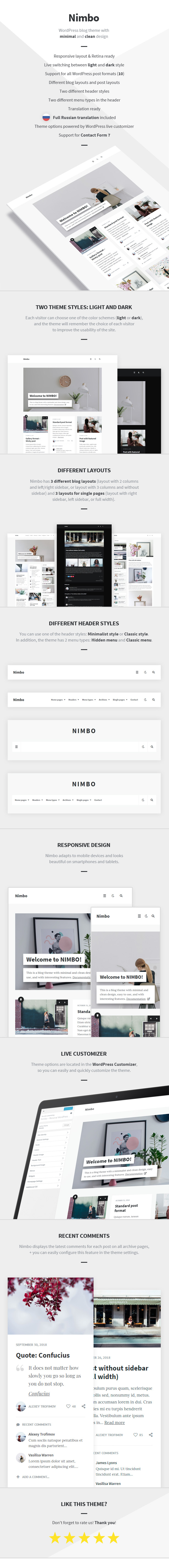 Nimbo WordPress Theme - Features