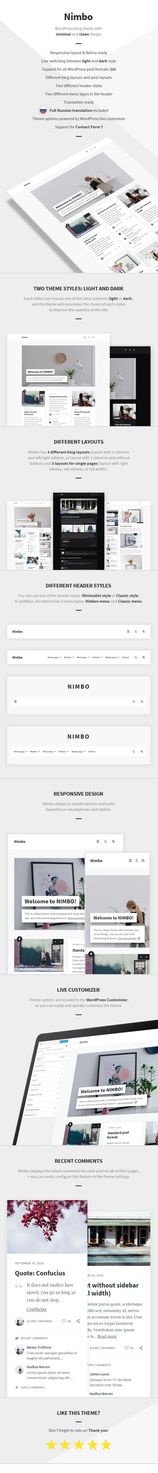 Nimbo - Personal WordPress Blog Theme