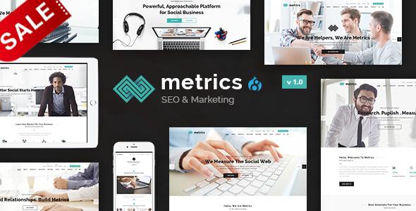 Metrics Business - SEO, Digital Marketing, Social Media Drupal 8 Theme