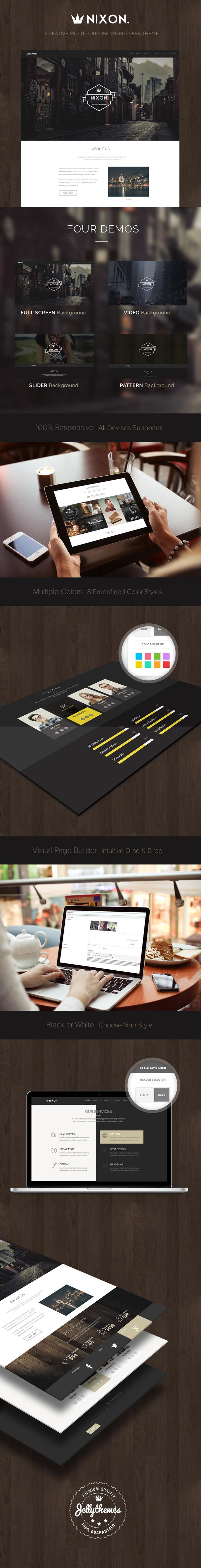 Nixon - Creative One Page Multi-Purpose Theme - 1