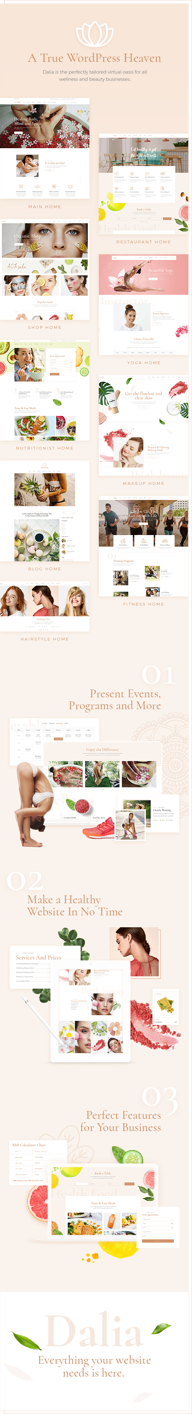 Dalia - Modern Wellness & Cosmetics Theme - 1