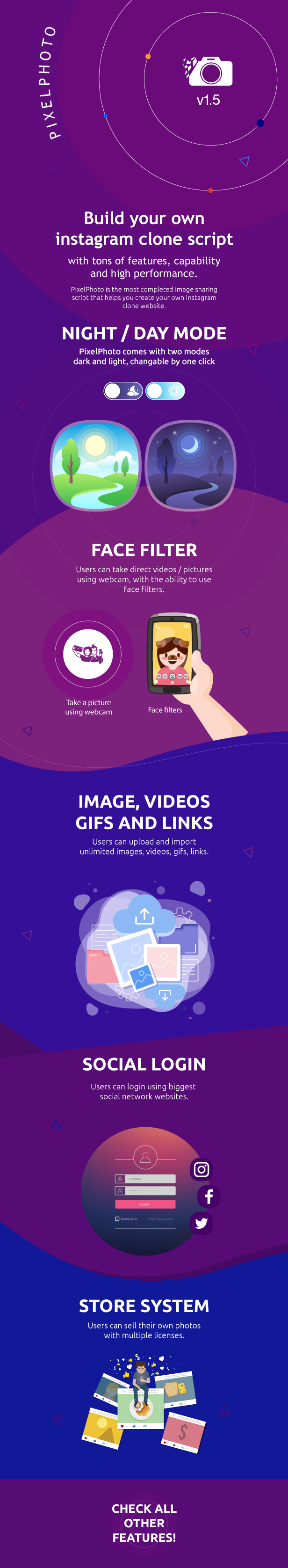PixelPhoto - The Ultimate Image Sharing & Photo Social Network Platform - 1