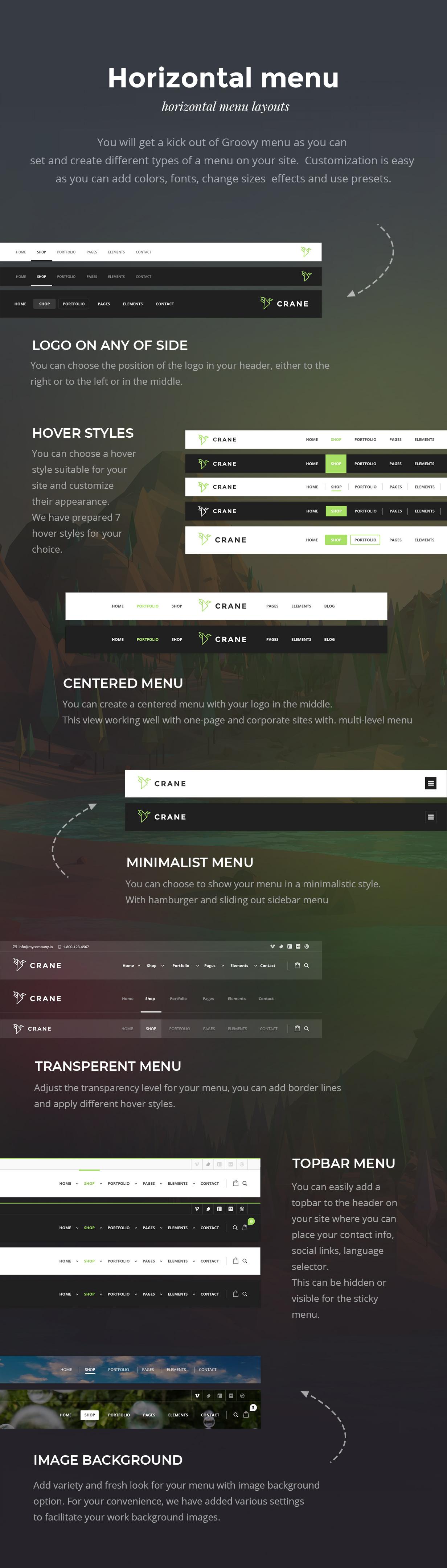 Crane - Easy to create Onepage, Corporate Business Website and Creative Portfolio