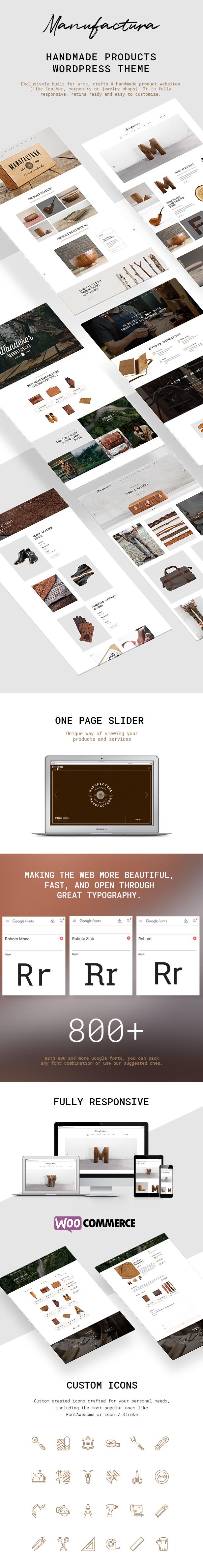 Manufactura - Handmade Crafts, Artisan, Artist WordPress Theme - 1