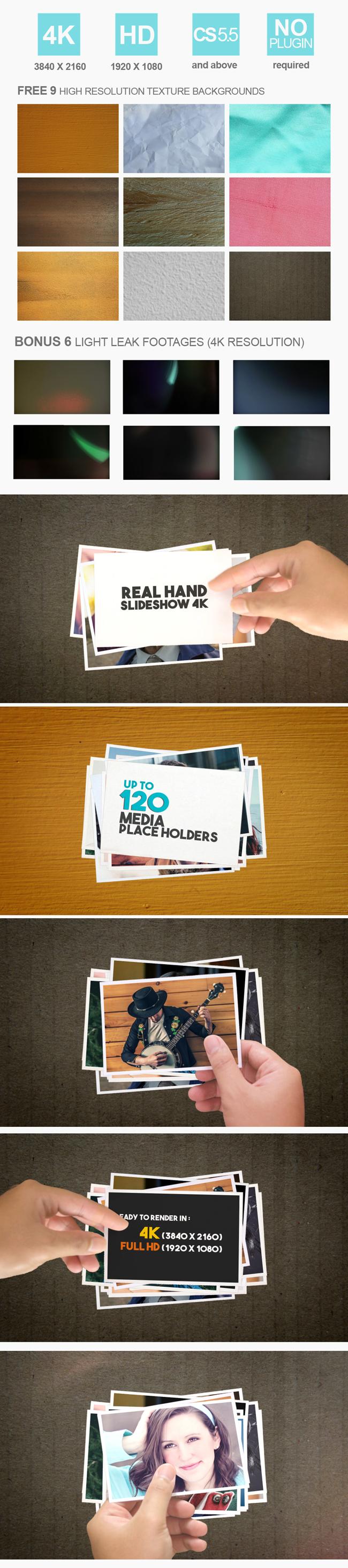 Real Hand Slideshow 4K - 1