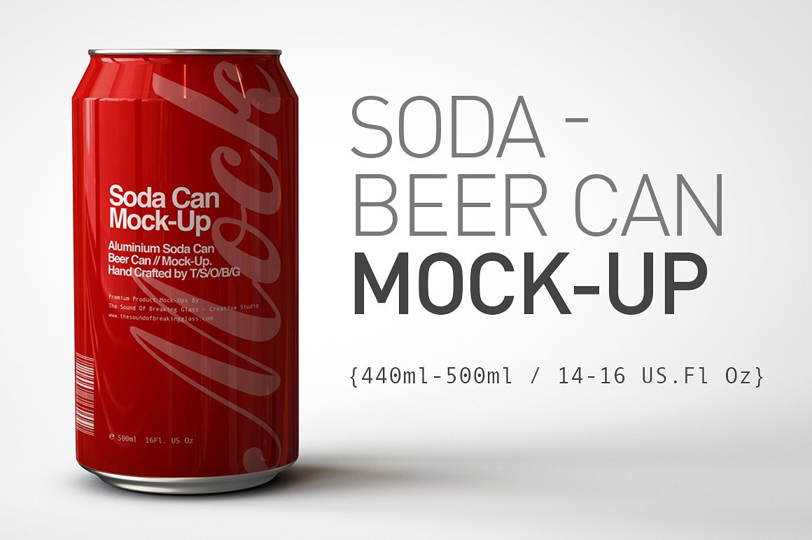Soda Can - Beer Can Mock-Up