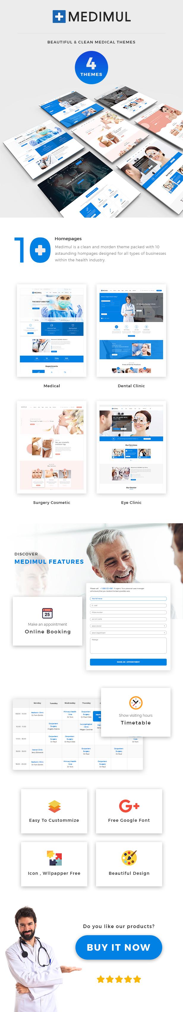 Medimul - Multi-Purpose Medical Health WordPress Theme - 1