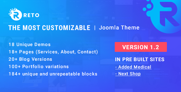 Reto - Best Customizable Joomla Theme With Page Builder - Joomla CMS Themes