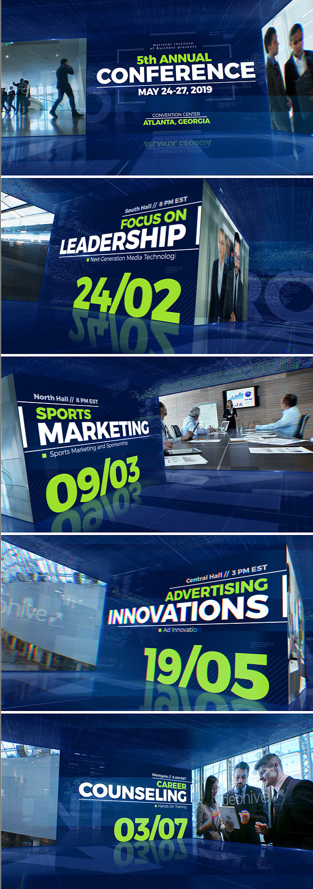 Event Promo After Effects Template for conference, convention, exhibition, meeting, business video