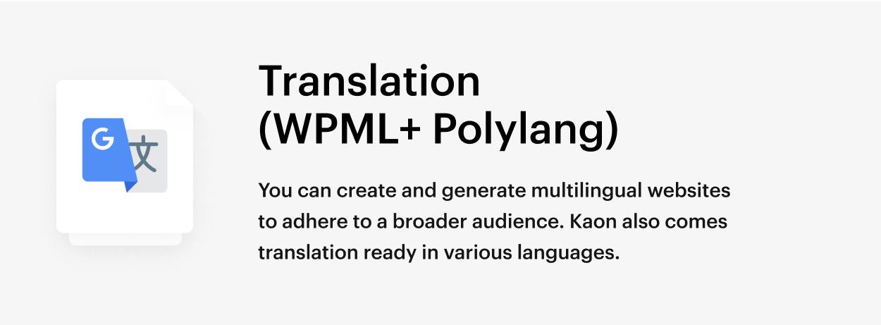 Kaon WordPress Theme - Translation