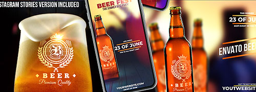 Beer Fest & Mock-up Pack for After Effects